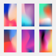 Modern phone vector elegant wallpaper. Blurred multicolored backgrounds with gradient meshes