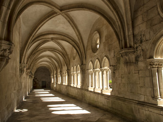 Monastery of Alkobas, historical Center. Portugal.