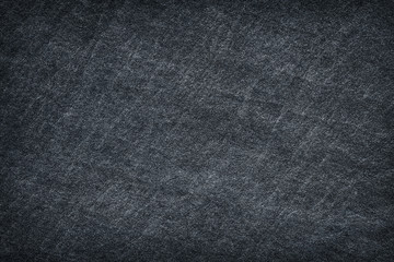 Dark grey black slate stone abstract background or texture