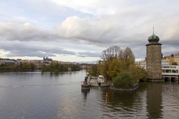 Moldva river in Prague
