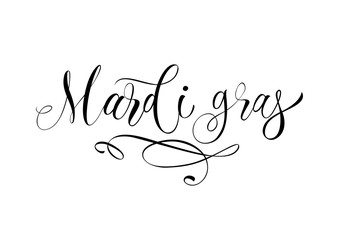Mardi Gras Lettering with Flourish