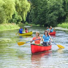 Naturgenuß bei einer Kanu-Tour