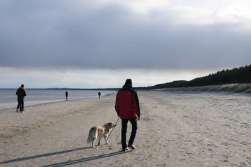 Strand Otsee Spaziergang mit Hund Gassi