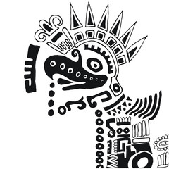 Mexican Aztec drawing Eagle Tatoo