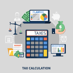 Tax Calculation Flat Composition