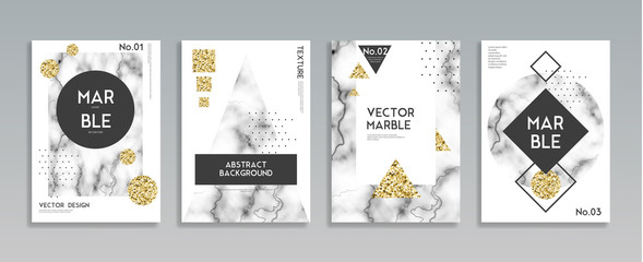 Marble Stone Texture Posters Set