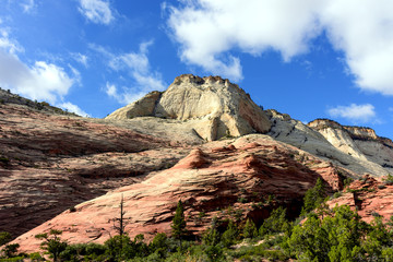 Close up beautiful mountain, Zion National Park
