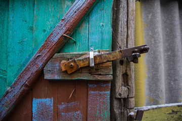 wooden old gate