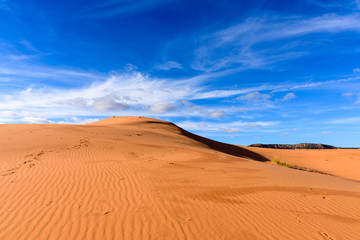 Blue Sky, Coral Pink Sand Dunes State Park in Utah, USA