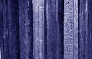 Wood fence texture in blue color.