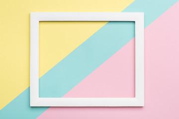 Abstract pastel colored paper texture minimalism background. Minimal geometric shapes and lines...