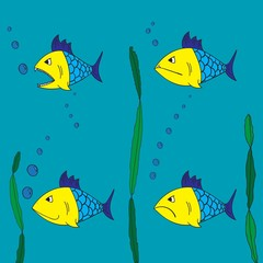 Four fish underwater