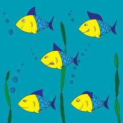 Five fish underwater