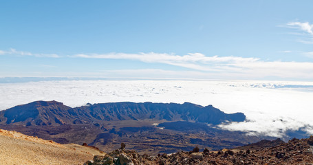 View from summit of Mt Teide, Tenerife, Spain