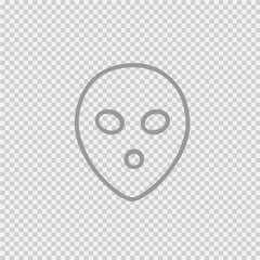Alien face simple isolated vector icon eps 10.