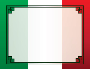 Mexican Flag Border Template for Poster or Flyer