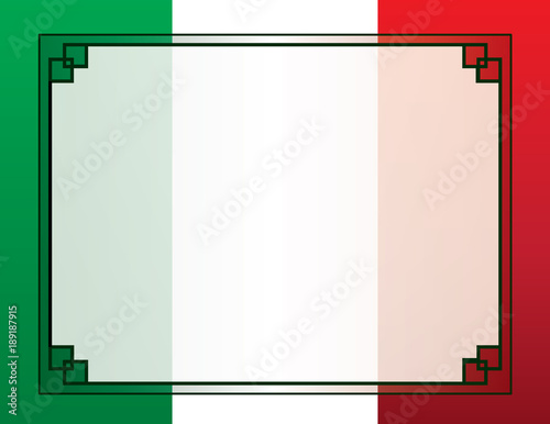 Mexican Flag Border Template For Poster Or Flyer Stock Image And