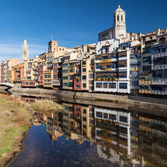 Old Quarter of Girona from the Onyar River