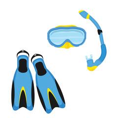 Diving equipment vector