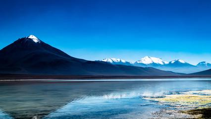 Bolivia Lagoon Mountain Scene