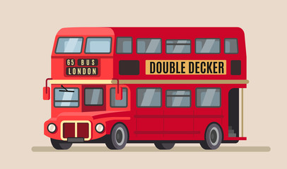 double decker city bus