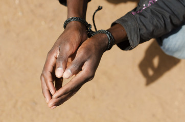 Black Man Slave Refugee Symbol - Human Rights Issue