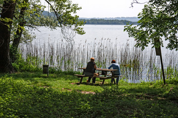 A peaceful summer afternoon on the shores of Lake Varese