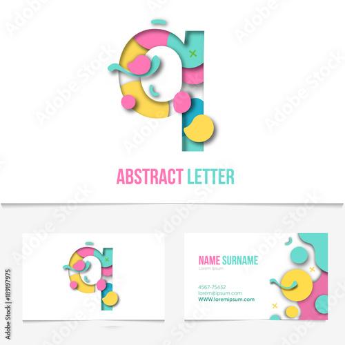 Paper cut letter q .Realistic 3D Creative Letter design. q letter ...