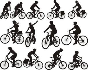 bike silhouettes - cycling icon
