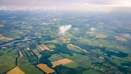 English Countryside Aerial shot