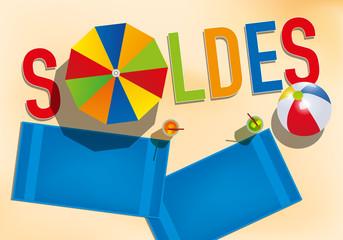soldes - publicité - affiche - été - promos -communication - plage - mer - prix - soldes d'été