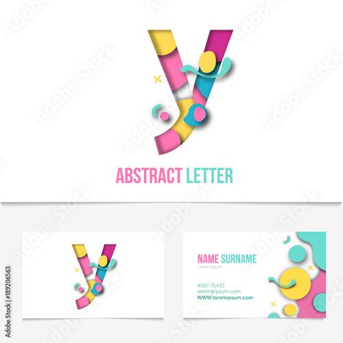 Paper cut letter y alistic 3d creative letter design y letter paper cut letter y alistic 3d creative letter design y letter template on the maxwellsz