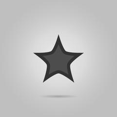 Star icon flat. Black pictogram on white background. Vector illustration