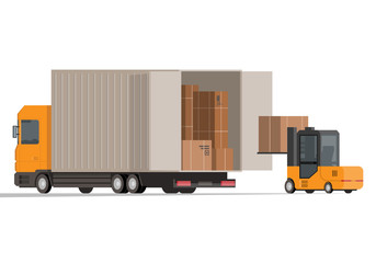 Flat forklift and truck