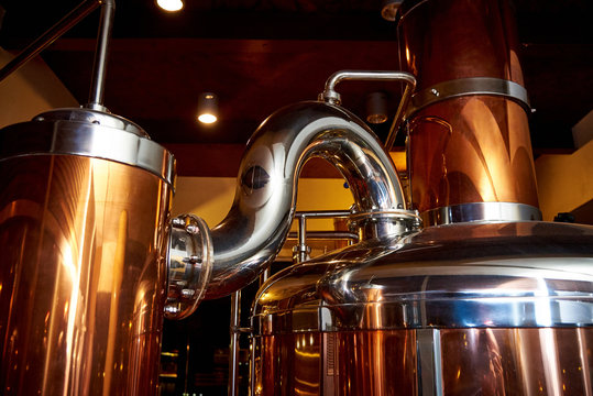 Equipment for the preparation of beer in a private brewery