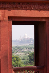 Taj View from the Red Fort