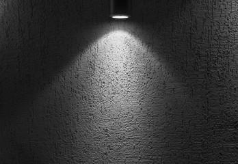 Photo of Illuminated empty dark interior with spot light Wall mural