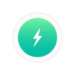 Flash icon sign