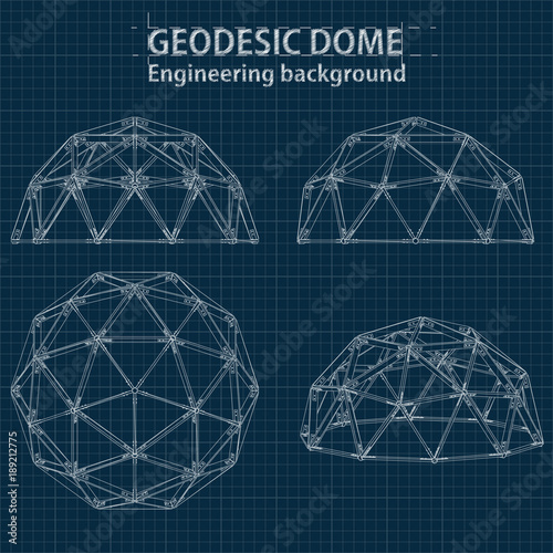 Drawing blueprint geodesic domes with lines of building vector drawing blueprint geodesic domes with lines of building vector eps10 malvernweather Choice Image