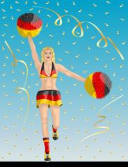 German Cheerleader of Germany Fans