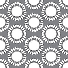 Seamless pattern with doodle circles