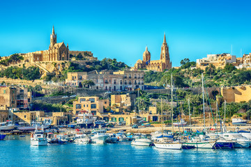Malta: Mgarr, a harbour town in Gozo island, Mediterranean Sea
