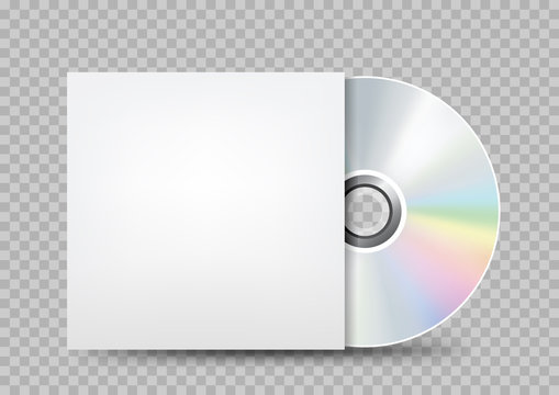 compact disc white cover transparent
