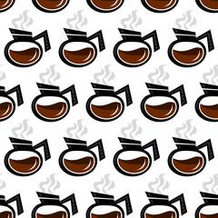 Coffee Pot Seamless Background Pattern