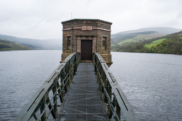The reservoir in the Brecon Beacons national park. Powys, Wales, UK
