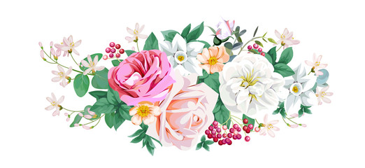 Bouquet for decoration greeting cards