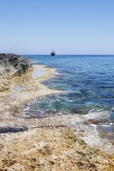 Sea coast. Cyprus summer landscape