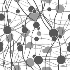 Fototapeta Circle gray on line seamless pattern