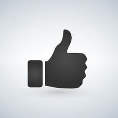 thumbs up like emoji for social media channels and websites vector illustration
