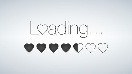 Love is Loading with Loading bar, valentine s day is coming